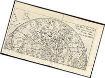 2 Antique Master Prints-CELESTIAL-MAP-STAR-CHART-HEMISPHERE-