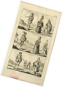 2 Antique Prints-GENRE-COSTUME-DUTCH-CLASS-Buijs-Brouwer-ca