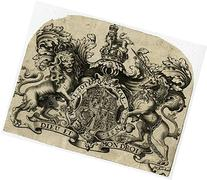 2 Antique Prints-HERALDICS-COAT OF ARMS-ENGLAND-JUGBY-