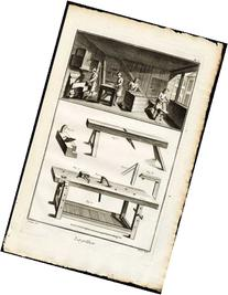 2 Antique Prints-WOODEN BOX MAKING-CRATE-TRUNK-TOOLS-Diderot