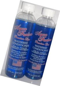 2 Bottles of 8 oz Premium Clear Bottle Waterbed Conditioner