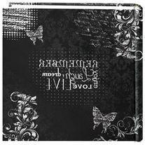 2-Up Chalkboard Print Album 200 4X6 Pockets-Remember