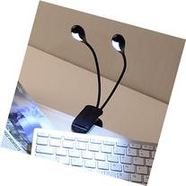2 Dual Flexible Arms 4 LED Clip-on Light Lamp for Piano