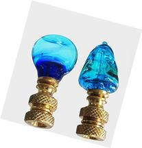 2 Finials for Lampshades - Sea Colors - Blue Venetian Glass
