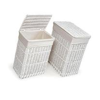 2-Hamper Set Laundry Basket Essentials with Cover