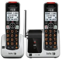 AT&T 2 HANDSET CORDLESS TELEPHONE FOR VISION & HEARING