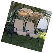 Bellezza Outdoor 2-Person Double Swing with Frame Garden