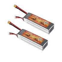 Floureon 2 Packs 14.8V 5500mAh 35C 4S Lipo High Power
