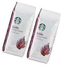 2 Packs of 40 Oz Starbucks French Roast Whole Bean Coffee =