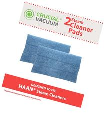 2 HAAN SI-25 Washable Micro-Fiber Blue Steam Mop Pads fits