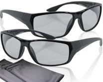 2 Player split screen polarized gaming glasses - black -