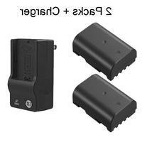 2 Replacement Panasonic DMW-BLF19 Batteries and 1 DMW-BTC10