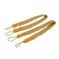 SODIAL 2 Rope curtain tiebacks - slender slinky rope cord
