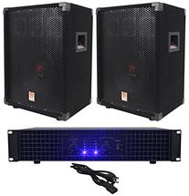 "2) Rockville RSG10 10"" PA Speakers+Technical Pro AX1200"
