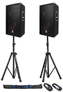 2) Rockville RSG12.4 12 3-Way 1000w 4-Ohm Passive DJ