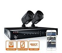 LaView 2 HD 720P Camera Security System,  4 Channel 720P HD-