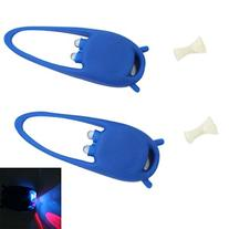 2 pcs 2 LED Silicone Safety Warning Bicycle Caution Light