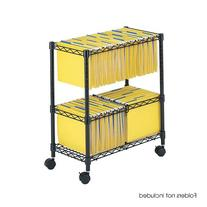 Safco Products 5278BL Two-Tier Rolling File Cart for Letter