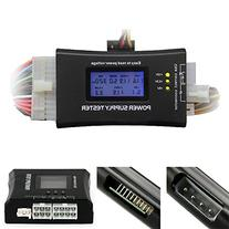 HDE 20+4 Pin LCD Power Supply Tester for ATX, ITX, BTX, PCI-
