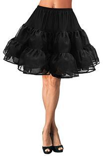 "Black Butterfly 20""Long Vintage Satin Organza Petticoat"
