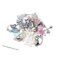 20 Randomly Picked Belly Rings - Hearts, Jewels, Butterflies