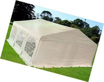 20'x20' PE Tent White - Heavy Duty Wedding Party Tent Canopy