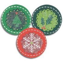 Holiday Circles Christmas Seals - 200 Pack