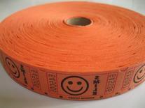 2000 Orange Smile Single Roll Consecutively Numbered Raffle