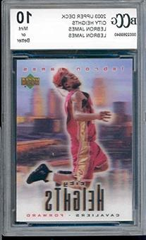 2003 upper deck city heights LEBRON JAMES rookie BGS BCCG 10