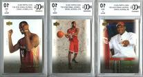 2003 Upper Deck Lebron James Rookie Collection of THREE