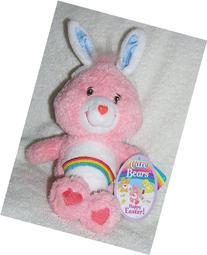 "2004 Care Bears 8"" Plush Fluffy Easter Cheer Bear with Bunny"