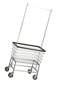 R&B Wire 200F56 Large Capacity Wire Frame Metal Laundry Cart