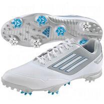 Adidas Men's Adizero One Golf Shoes White/White/Blue 10.5