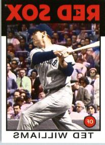 2014 Topps Archives Baseball Card # 101 Ted Williams -