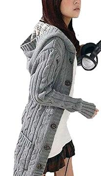 Voglee- New Style Womens Long Sleeve Hoodie Coat Cardigans