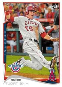 2014 Topps Opening Day #1 Mike Trout / Sliding - Los Angeles