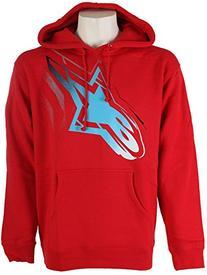 Alpinestars Men's Telepathic Pullover Fleece Hoodie, Red, S