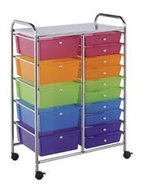 Darice 2026-105 Rolling Storage Trolley with 15-Tier