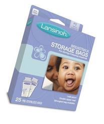 Lansinoh 20435 Breastmilk Storage Bags, 25-Count Boxes