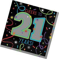 21st Brilliant Birthday Beverage Napkins