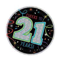 21st Brilliant Birthday Paper Dessert Plates