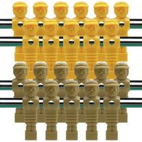 22 Old Style Tan and Yellow Foosball Men