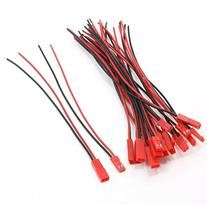 TOOGOO 10 Pairs 22AWG 150mm Cable w 2Pin JST M F Plug for RC