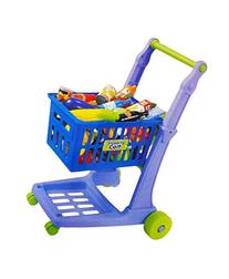 """23"""" Deluxe Mini Shopping Cart with Grocery Food Toy Playset"""