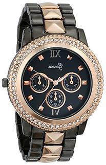 Geneva Women's 2388C-GEN Rhinestone-Accented Two-Tone Watch