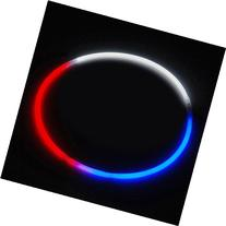 """24"""" Glowsticks Glow Stick Necklaces Tri-Color RED WHITE and"""