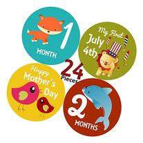 Mesmerico 24 Baby Monthly Holiday Stickers - Baby Boy Girl's