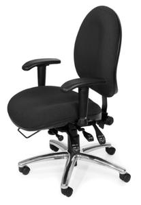 OFM 24-Hour Ergonomic Upholstered Task Chair with Arms,