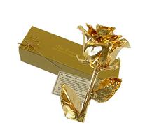 24K Gold Dipped Real Rose w/Gold Gift Box by The Original