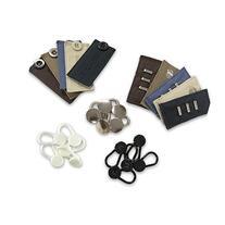 25-pack Waistband Extender Set - 5 x White Button, 5 x Black